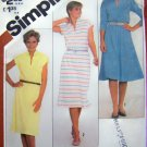 Pullover Dress Flared Slim Skirt Funnel Neck B 38 Sz 16 Cap Long Sleeve Vintage Sewing Pattern 5444
