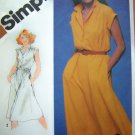 80's Vintage Sewing Pattern Dress Sz 10 Shirtwaist Elastic Waist Turn Back Cap Sleeve Cuff 5122