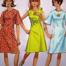 60s Vintage A Line Princess Dress Mod Sleeveless or Short Bell Sleeves B 32 Sewing Pattern 6936