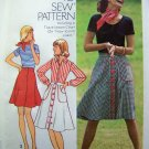 70s Button UP Shirt Mini Midi Knee Length Patch Pockets How to Sew Vintage Sewing Pattern 6778