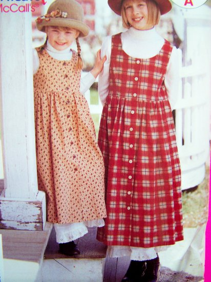 Girls Jumper Dress Princess Bodice Sundress & Lace Hem Petticoat 7 8 10 12 14 Sewing Pattern P227