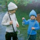 Boys & Girls Turtle Neck Sweater and Hat Pullover Turtleneck Vintage Knitting Patterns