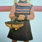 USA 1 Cent S&H Girl's Knitted Jumper Dress & Turtleneck Sweater Vintage Knitting Patterns