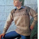 Girls or Boys Scandinavian Sweater Vintage Knitting Pattern