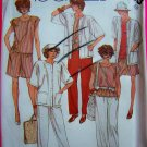 80's Vintage Wardrobe Plus Size 18 Shirt Pants Shorts Jacket Sewing Pattern 2033