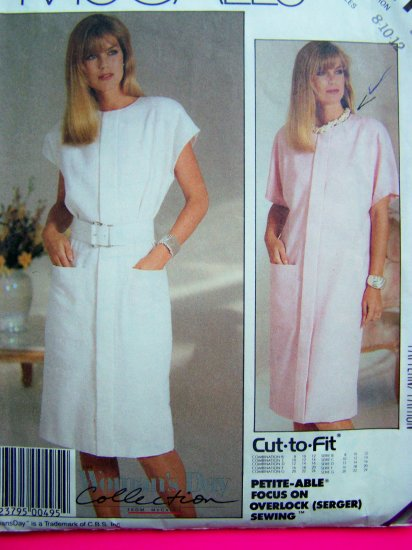 Pullover Slim Dress Front Tuck B 34 Easy McCall's Vintage Sewing Pattern 2911