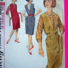 MOD 60s Vintage Dress Deep V Neck Jumper Sheath Blouse Shirt B 34 Sewing Pattern 5067