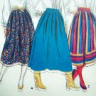 70s Full Flared or Pleated Shirt 2 Lengths W 30 Sz 16 Vintage Sewing Pattern Butterick 4556