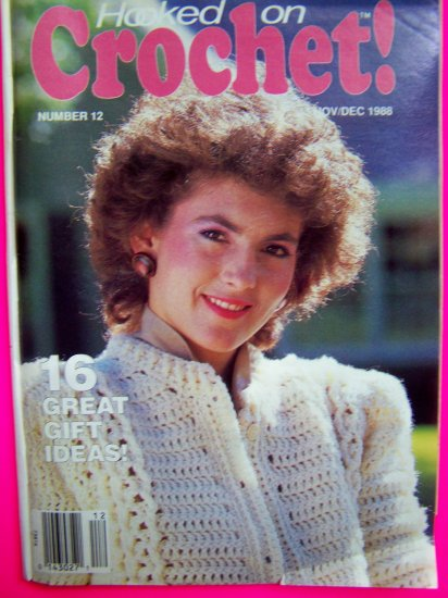 80's Vintage Hooked on Crochet Pattern Magazine # 12 Crocheting Patterns Book