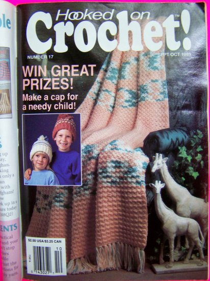 80's Vintage Crocheting Pattern Magazine Hooked on Crochet # 17 Penny Loafers Texas Star Afghan