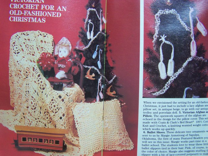 Vintage Christmas Crochet Patterns Stocking Doily Table Snowflake Angel Ornaments