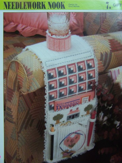 Plastic Canvas Pattern Needlework Nook Organizer Holder Craft Patterns