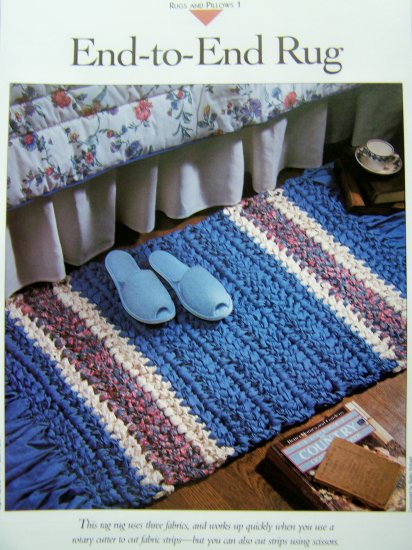 USA 1 Cent S&H Crochet Sewing Pattern End to End Rag Rug Fabric or Mill End Strips