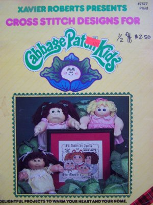 Vintage Cabbage Patch Doll Kids Cross Stitch Patterns Xavier Roberts 1980s Pattern