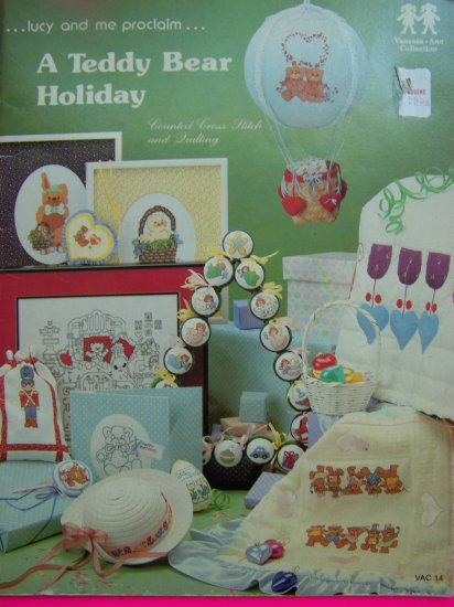 Vintage Holiday Cross Stitch and Quilting Patterns Book Christmas Easter