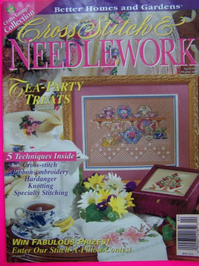 Cross Stitch & Needlepoint Pattern Magazine Better Homes and Gardens Patterns Book