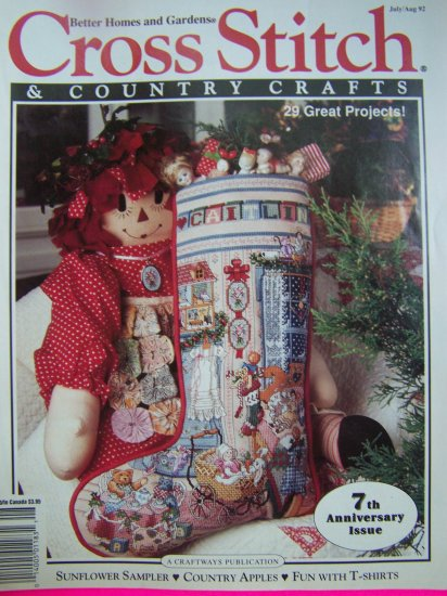 Better Homes and Gardens Cross Stitch and Country Crafts 29 Patterns Magazine July Aug 92