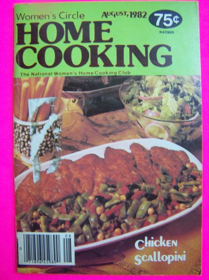Vintage 80s Womens Circle Home Cooking Cookbook Country Recipes Cook Book