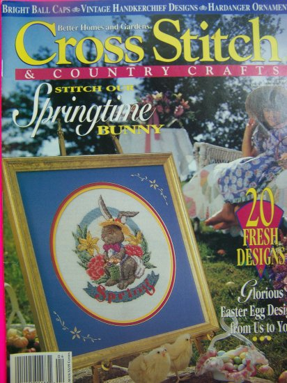 Better Homes and Gardens Cross Stitch & Country Crafts Magazine Spring 1994 Back Issue