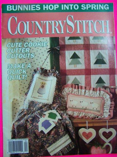 1990s Country Stitch Pattern Magazine Quilt Garland Paper Dolls