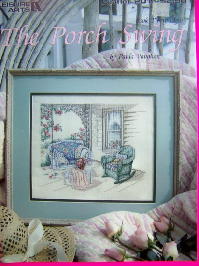 1990s Leisure Arts Cross Stitch The Porch Swing Leaflet 2016