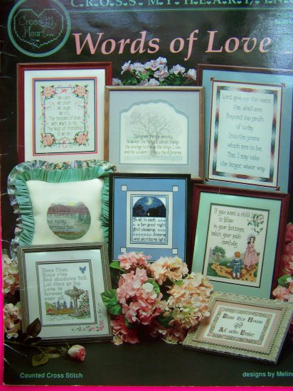 Counted Cross Stitch Words Of Love Cross My Heart Pattern Book Craft Patterns