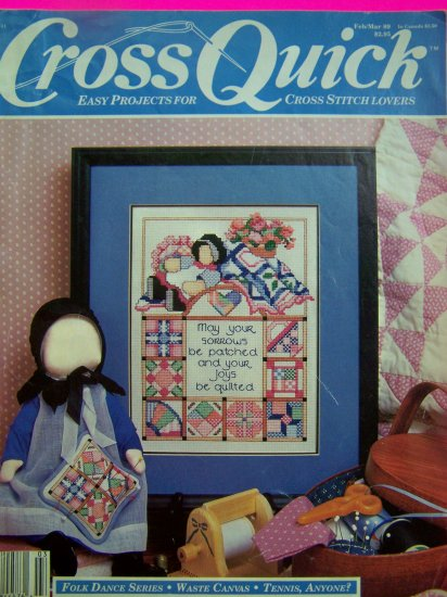 Vintage 1980s Cross Quick Stitch Nautical Easy Failte Patterns Back Issue Pattern Book