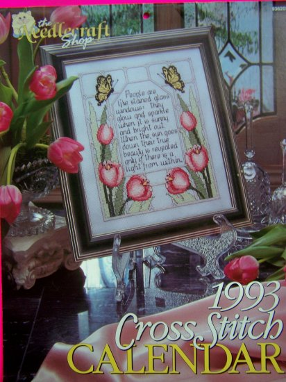 1993 Cross Stitch Pattern Calendar 12 Graph Patterns