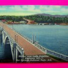 1940s Vintage Bridge over Lake Hamilton Highway 7 Hot Springs National Park Arkansas Postcard