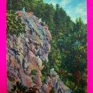40s Goat Rock on North Mountain, Hot Springs National Park Ark Arkansas Landscape Postcard Photo
