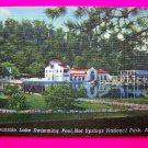 40's Vintage Photo Postcard Fountain Lake Swimming Pool Hot Springs National Park AR Arkansas