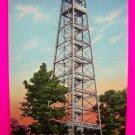 Vintage 40s Postcard Steel Observation Tower Mountain National Park Ark Arkansas FREE Ship USA
