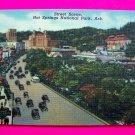 40s Postcard Street Scene Hot Springs National Park Arkansas Ark Picture Cars