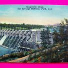 1940s Picture Carpenter Dam Hot Springs National Park Ark Linen Postcard Arkansas