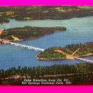 Lake Hamilton Scene Bridge From Airplane Hot Springs Arkansas Postcard Souvenirs Ark