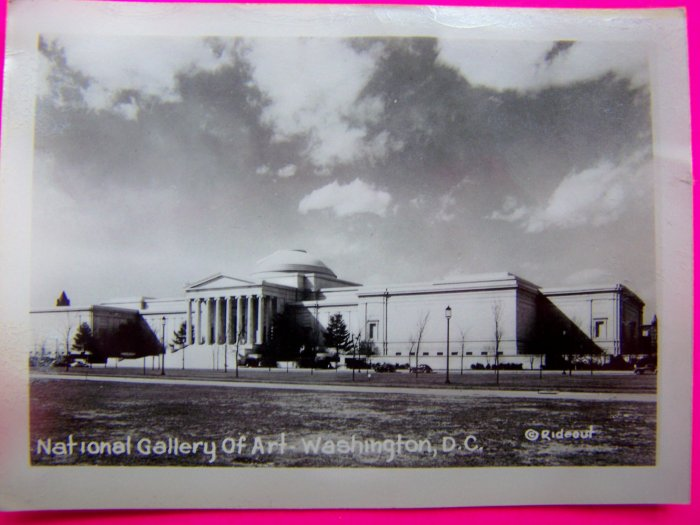 1930s Vintage Black and White Photo National Gallery of Art Washington DC Rideout Velox