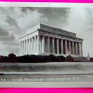 Vintage 1930s Photograph Lincoln Memorial Washington DC Rideout Black White Picture