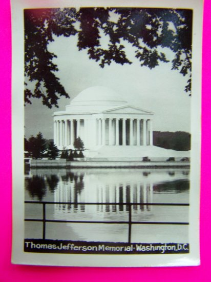 Vintage Jefferson Memorial Washington DC B&W Glossy Picture Velox Photo