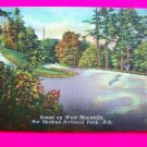 Vintage 40s Linen Postcard Landscape scene on West Mountain Hot Springs National Park Arkansas.