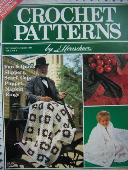 Vintage Crochet Patterns Herrschners Back Issue Pattern Magazine Christmas Granny Snowflake Afghan
