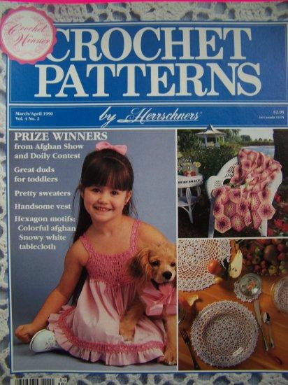 Herrschners Crochet Patterns Boys Girls Sailor Suit Sundress Argyle Vest Hexagon Filet Rose
