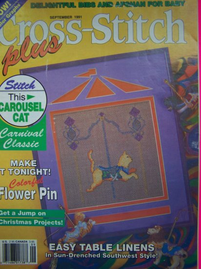 90s Cross Stitch Plus Pattern Magazine Back Issue Patterns Southwest Victorian Rose Cat