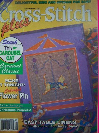 90s Cross Stitch Plus Pattern Magazine Back Issue Patterns Southwest Victorian Rose Cat
