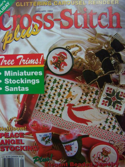 Cross Stitch Plus Pattern Back Issue Magazine Christmas Holiday 20 + Patterns Needlepoint Holiday