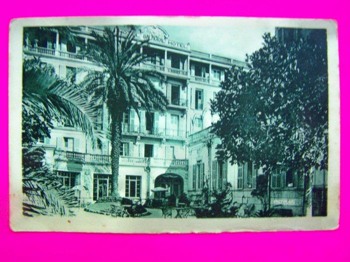 Vintage Postcard Hotel Balmoral Menton Building Paris Unused Antique