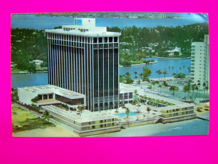 60s Vintage Postcard Doral Beach Hotel Miami Florida