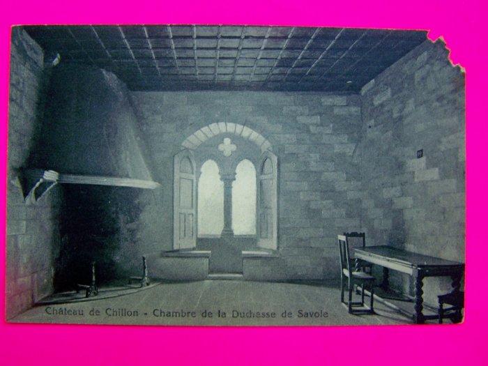 VIntage Postcard Chateau de Chillon Chambre de la Dechesse de Savole