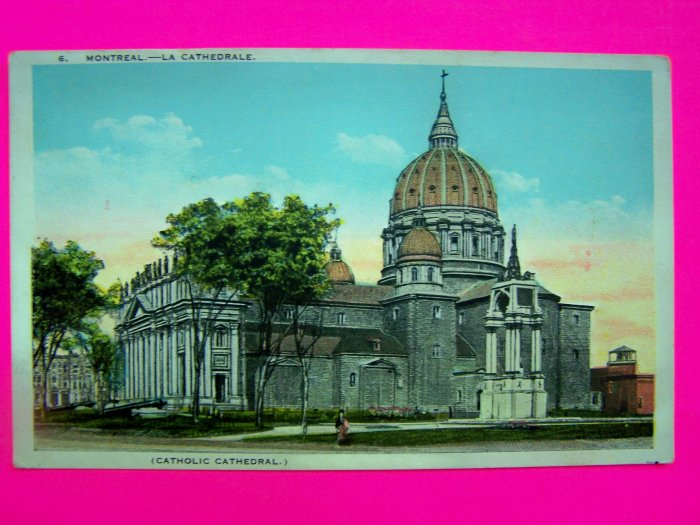 Vintage Postcard Catholic Cathedral Montreal Canada Carte Postale European Post Card