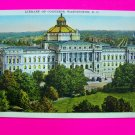 Vintage Postcard Unused Library of Congress Washington DC Colortone
