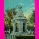 Antique Postcard Blocher  Monument Forest Lawn Cemetery BUffalo NY Vintage New York